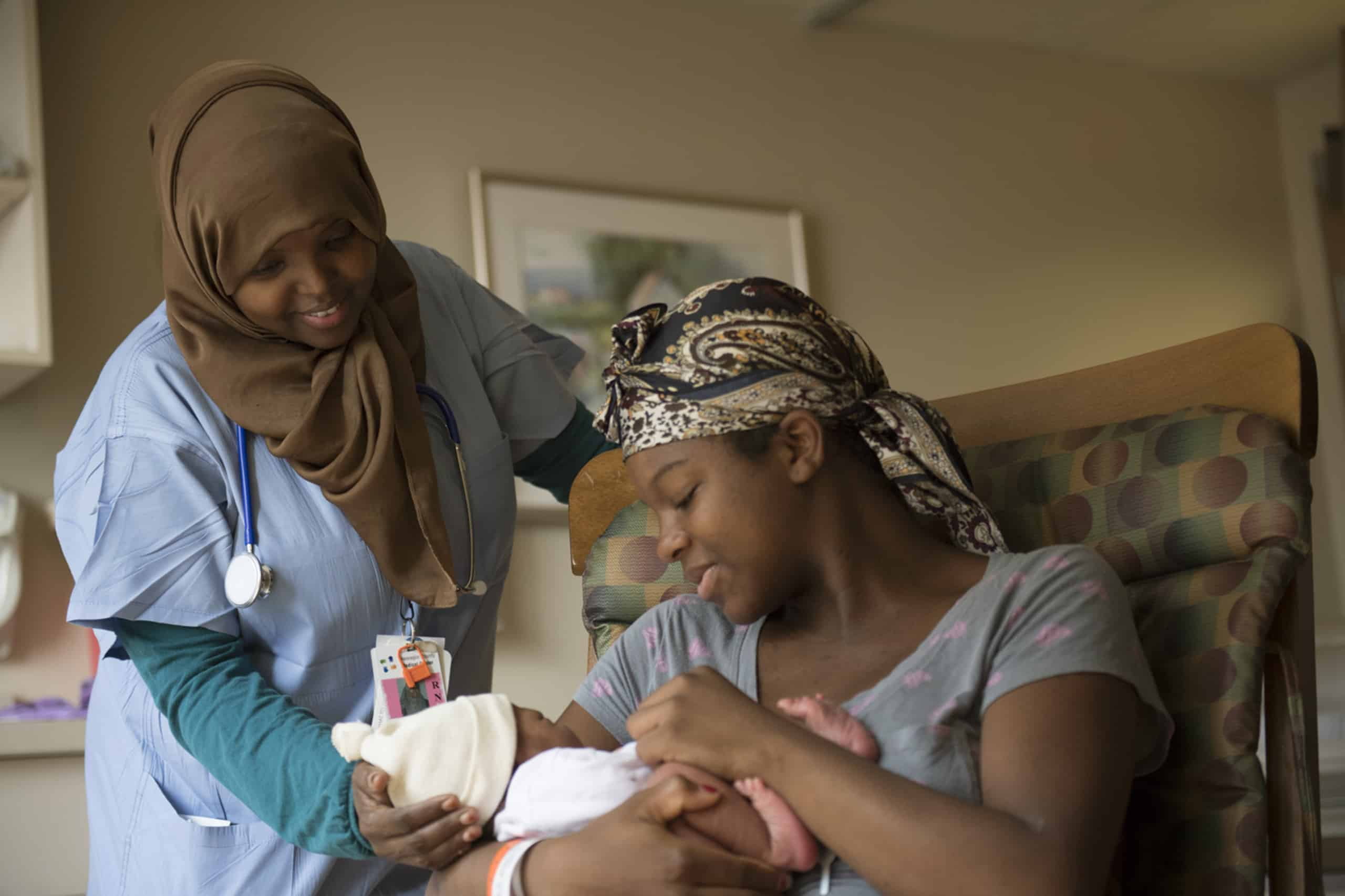 hhc nurse with mother and child